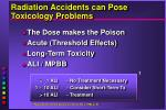 radiation accidents can pose toxicology problems