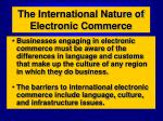 the international nature of electronic commerce2