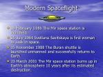 modern spaceflight