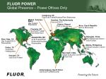 fluor power global presence power offices only