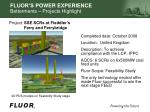 fluor s power experience betterments projects highlight