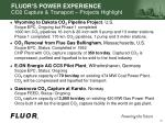 fluor s power experience co2 capture transport projects highlight
