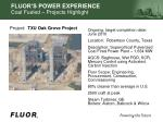 fluor s power experience coal f ueled projects highlight