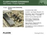 fluor s power experience gas fueled project highlights