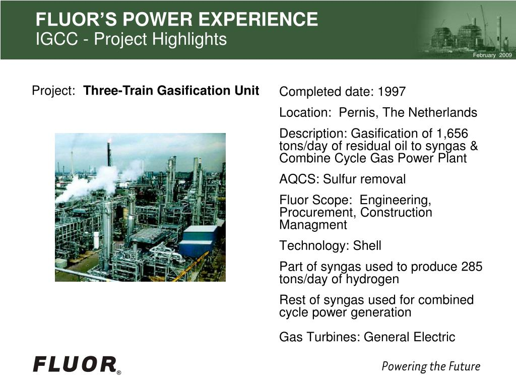PPT - FLUOR AS EPC LEADER IN POWER SECTOR PowerPoint Presentation