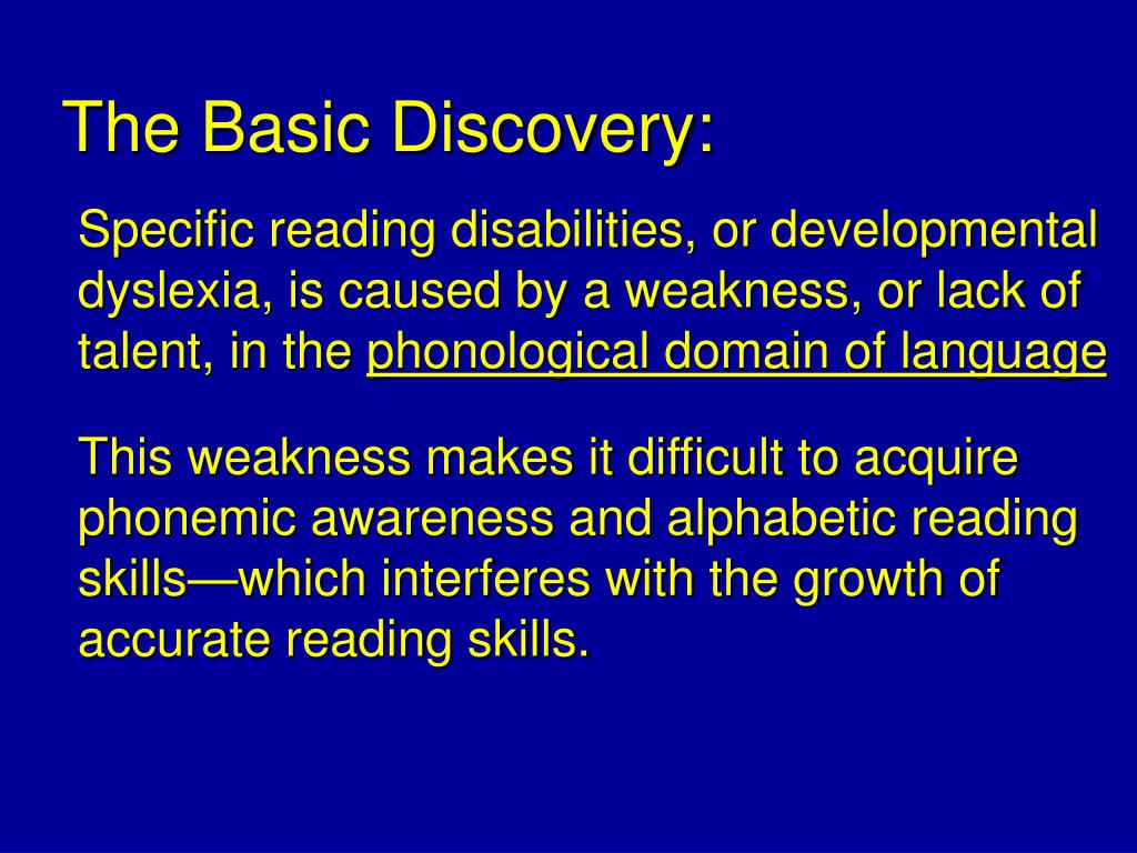 The Basic Discovery: