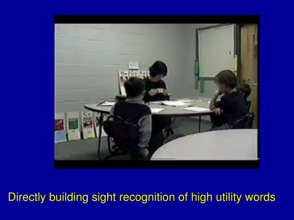Directly building sight recognition of high utility words