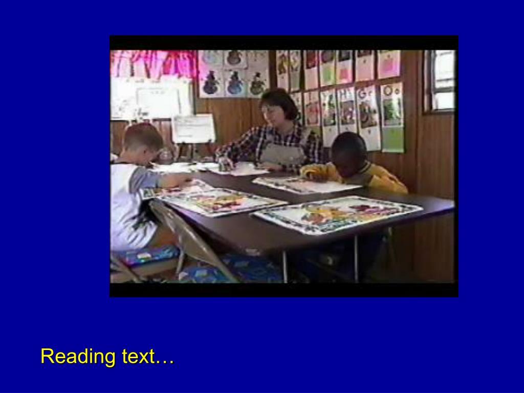 Reading text…