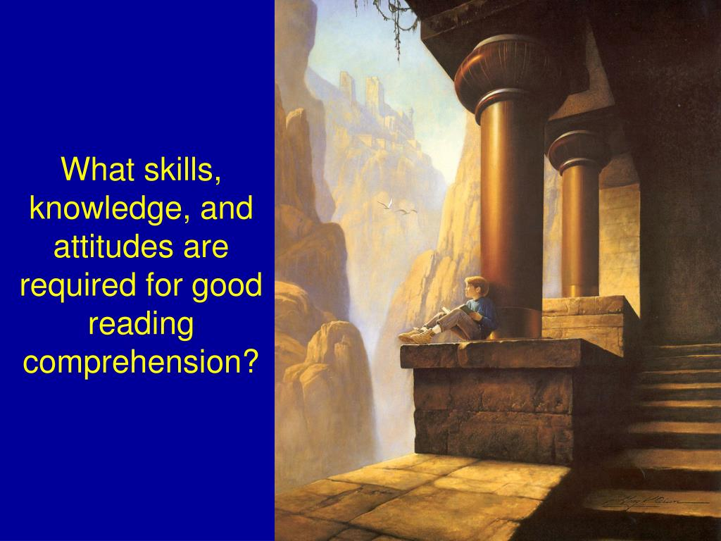 What skills, knowledge, and attitudes are required for good reading comprehension?
