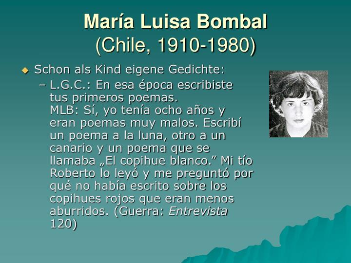 Mar a luisa bombal chile 1910 1980