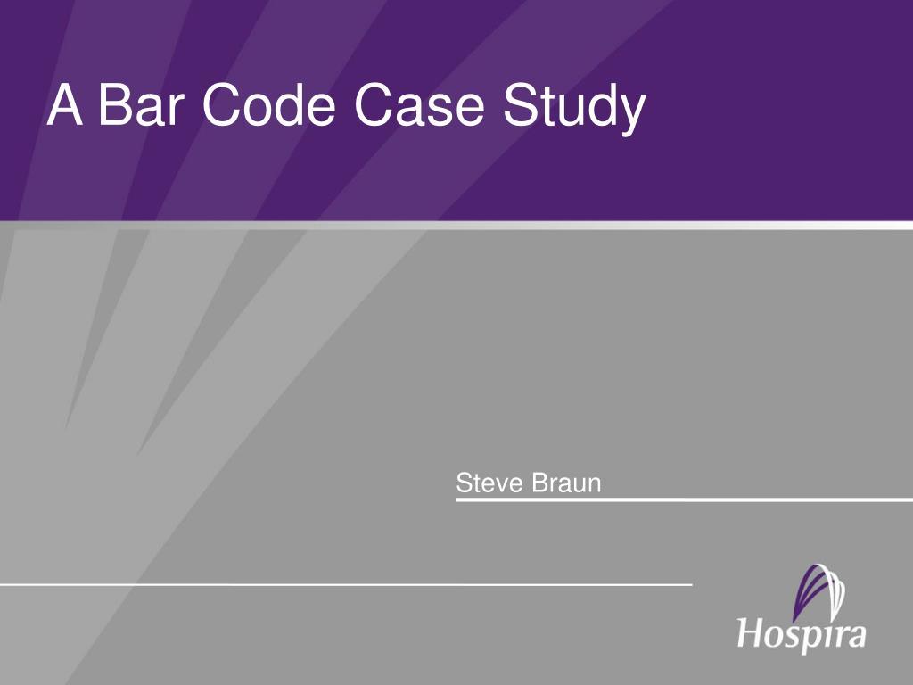 a bar code case study l.