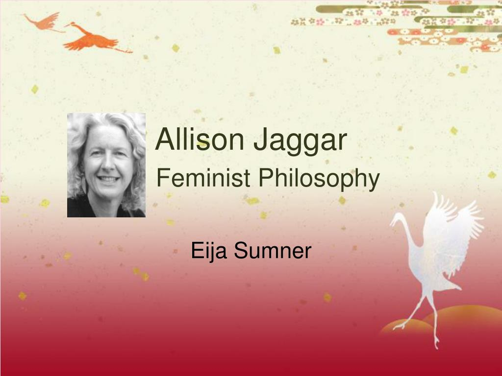 allison jaggar feminist philosophy l.