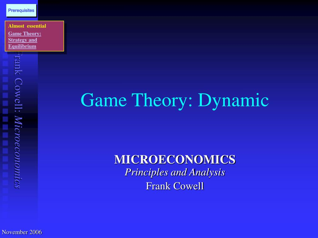 game theory dynamic l.