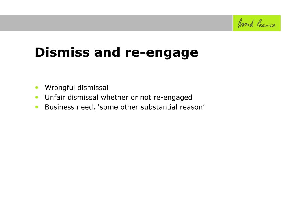 Dismiss and re-engage