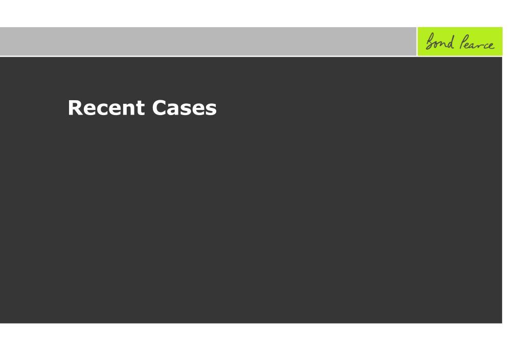 Recent Cases