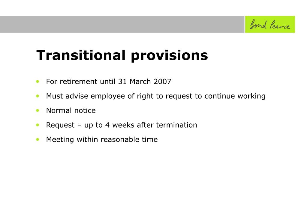 Transitional provisions
