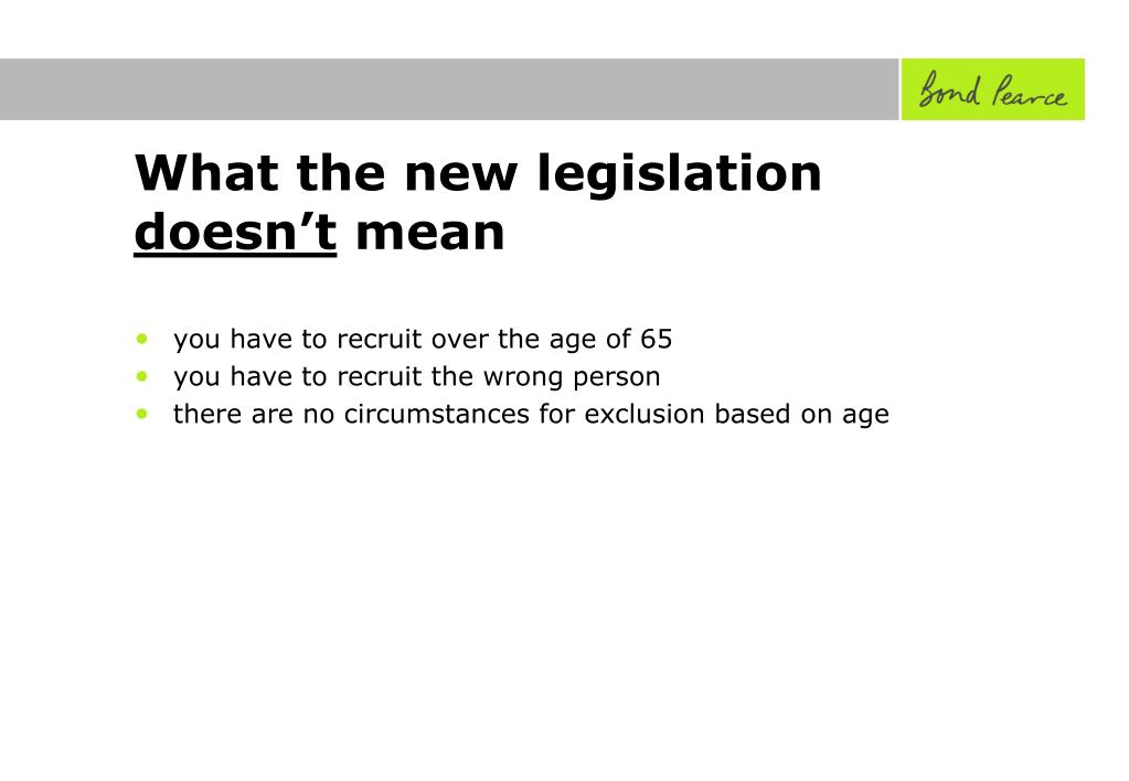 What the new legislation
