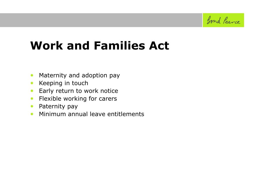 Work and Families Act