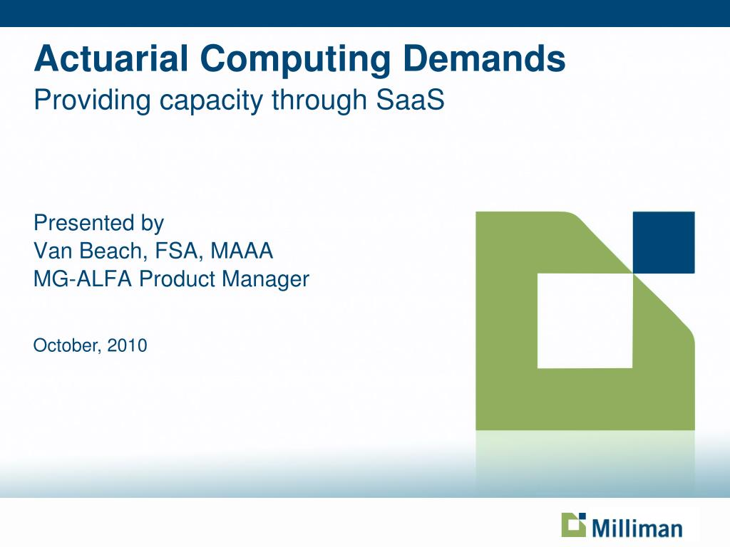 actuarial computing demands providing capacity through saas l.