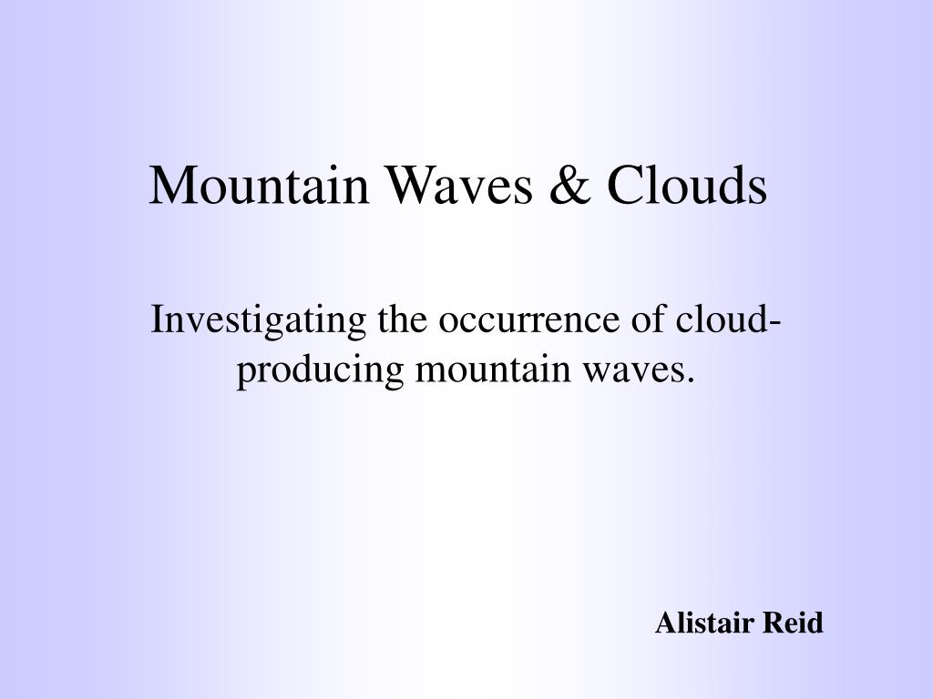 mountain waves clouds l.