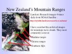 new zealand s mountain ranges