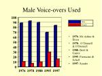 male voice overs used