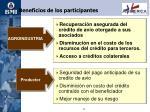 beneficios de los participantes15