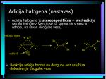 adicija halogena nastavak