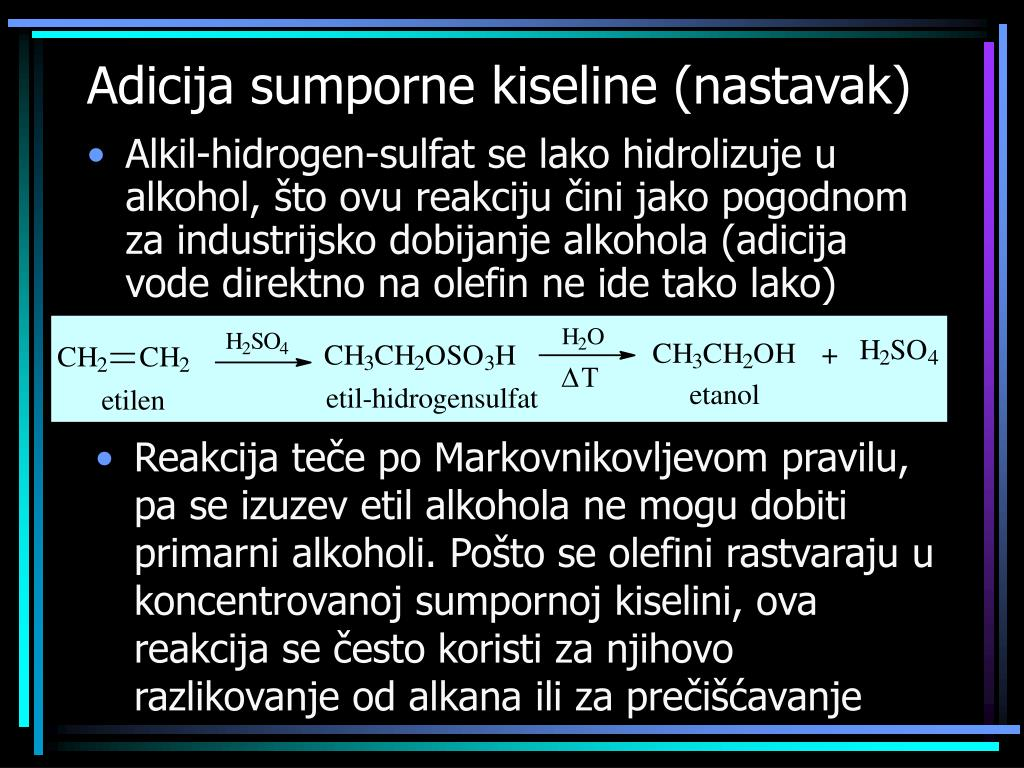 Adicija sumporne kiseline