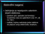 elektrofilni reagensi