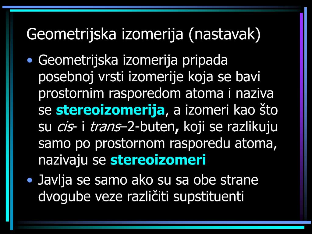 Geometrijska izomerija