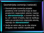 geometrijska izomerija nastavak