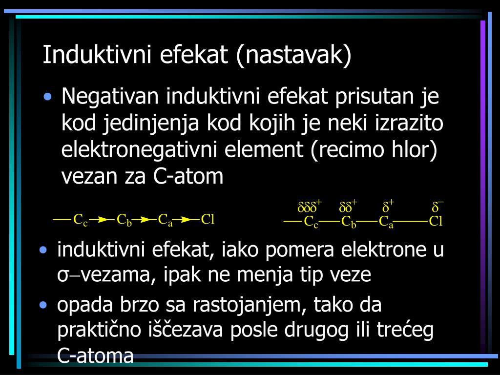 Induktivni efekat (nastavak)
