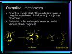 ozonoliza mehanizam