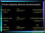 primeri dobijanja alkohola hidroborovanjem