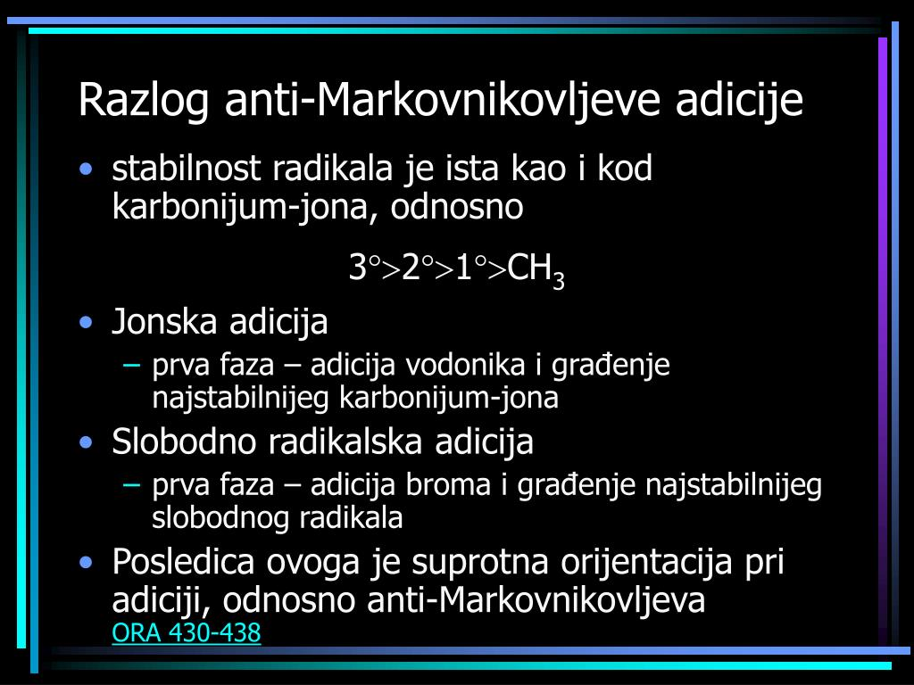 Razlog anti-Markovnikovljeve adicije