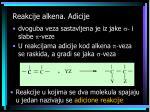 reakcije alkena a dicije