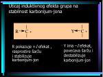 uticaj induktivnog efekta grupa na stabilnost karbonijum jona