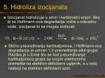 5 hidroliza izocijanata
