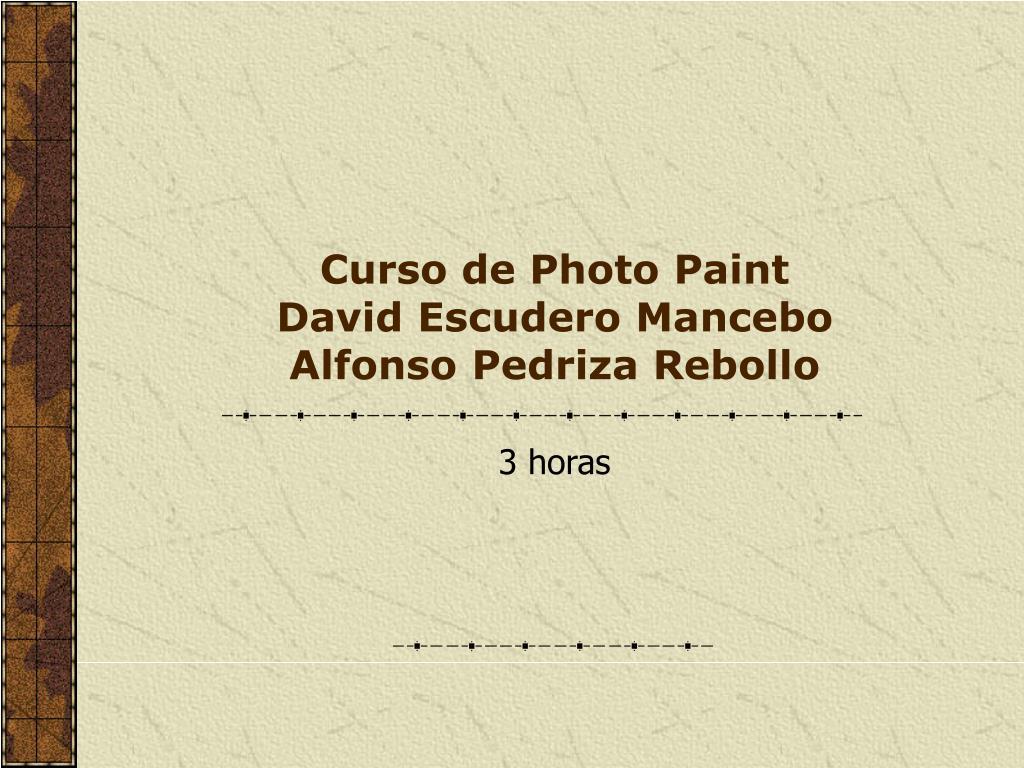 curso de photo paint david escudero mancebo alfonso pedriza rebollo l.