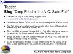 tactic blog deep fried at the n c state fair