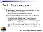 tactic facebook page18