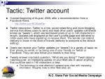 tactic twitter account