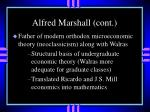 alfred marshall cont