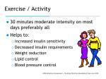 exercise activity