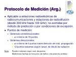 protocolo de medici n arg