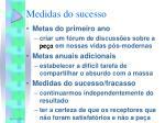 medidas do sucesso
