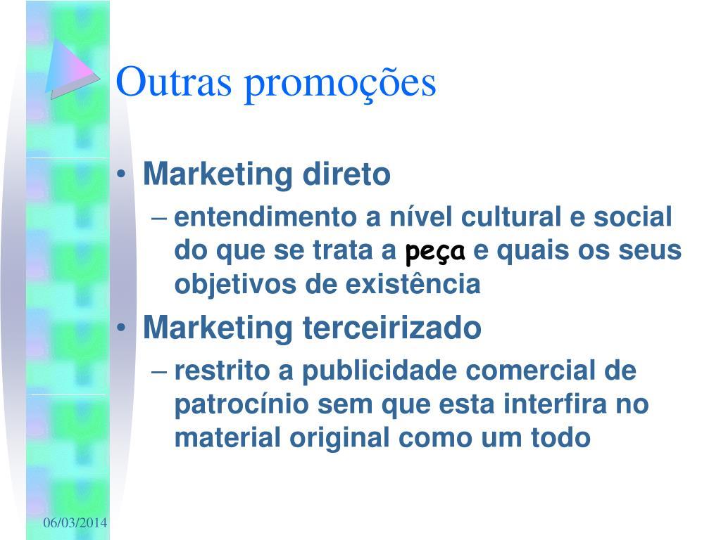 Outras promoções