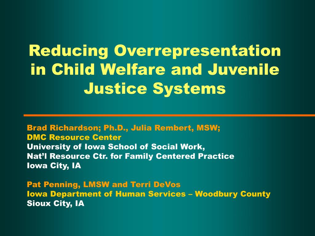 reducing overrepresentation in child welfare and juvenile justice systems l.