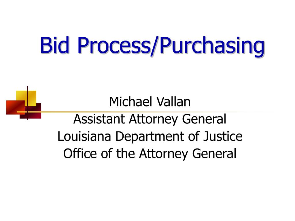 bid process purchasing l.